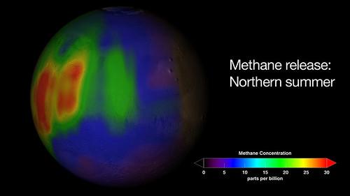 Marte mappa del metano