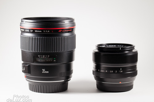 Fuji XF 35mm vs Canon EF 35mm f1.4 comparison No.1