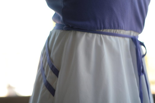 vintage purple jersey dress.