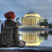 Reflecting on the Jefferson Memorial HDR by Brandon Kopp