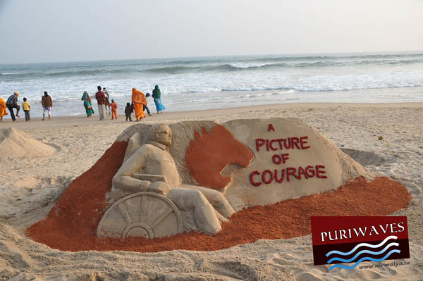 Courage Sand Art by Manas Kumar Sahoo