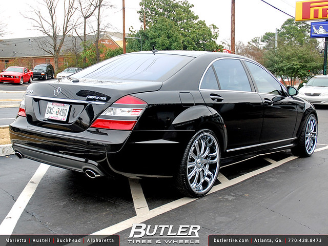 Mercedes benz s550 with 22in asanti af148 wheels a photo for Mercedes benz s550 rims