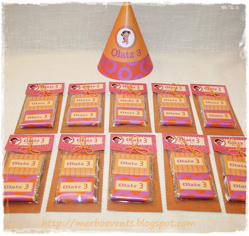 Kit de fiesta imprimible Dora Chocolatinas 2 by Merbo Events