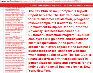 The-Tax-Club-Ripoff-Report-Advocacy-Program