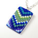 Blue Flame Bargello Pendant by The Blue Bottle Tree