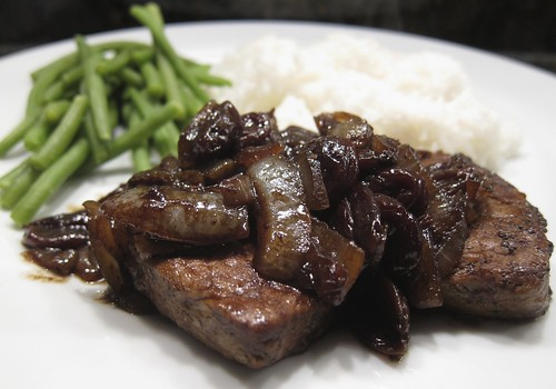 Pork with Tart Balsamic Cherries