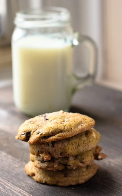 Salted Blood Orange Chocolate Chip Cookies with Almonds