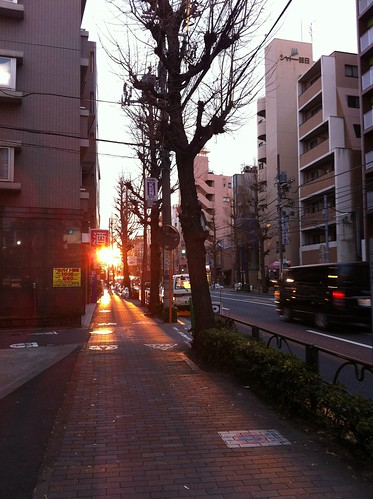 Sunrise at Zoshigaya