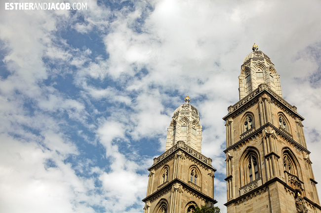 Great Church Grossmünster Romanesque-style Protestant church in Zurich Switzerland | Travel Photography