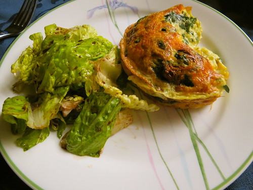 Spinach Frittata and Salad