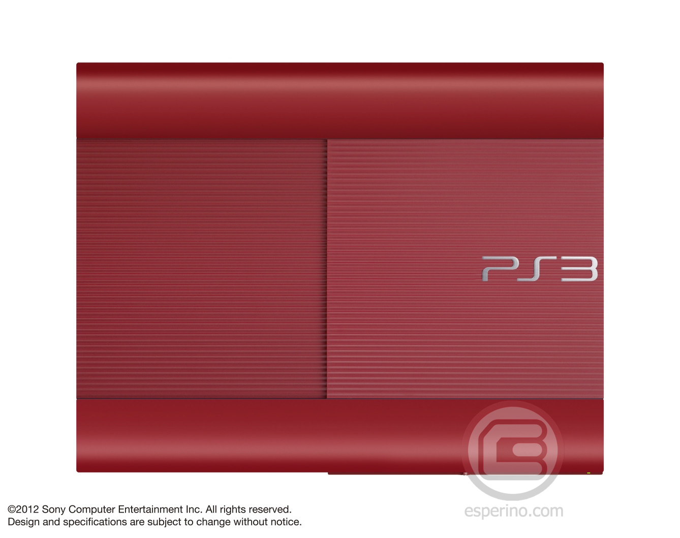Red PS3 Slim Console 1