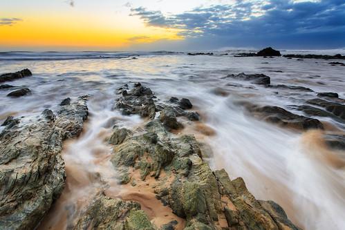 seascape sunrise portmacquarie lakecathie middlerock