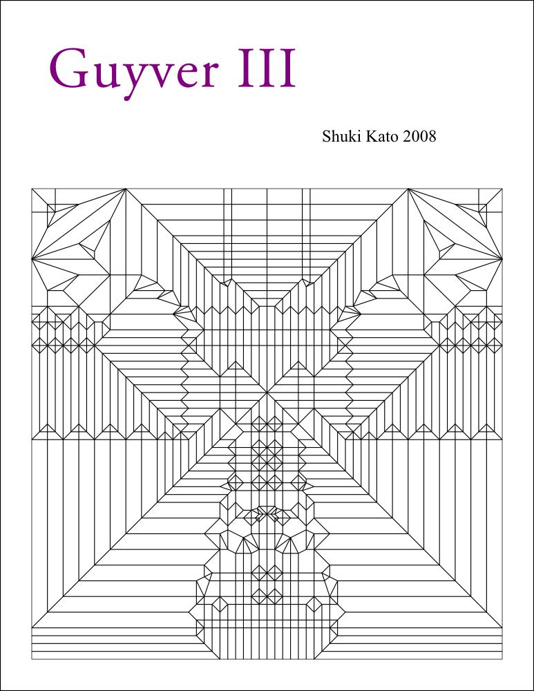 guyver iii full crease pattern