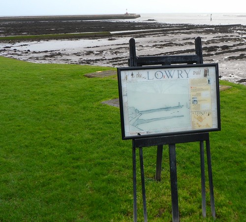 The Pier painting on the Lowry Trail in Berwick upon Tweed