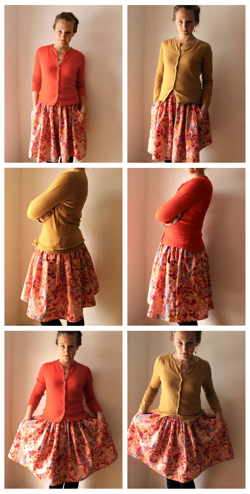 one skirt + two sweaters