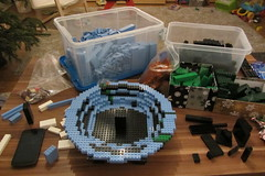 dirks LEGO globe - building up 02