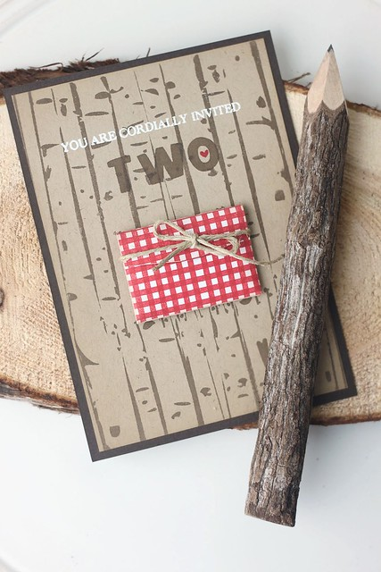 woodland party invite