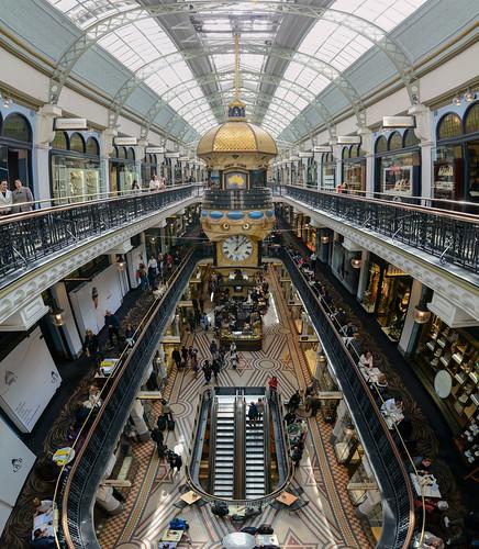 The Great Australian Clock -  Queen Victoria Building interior panorama