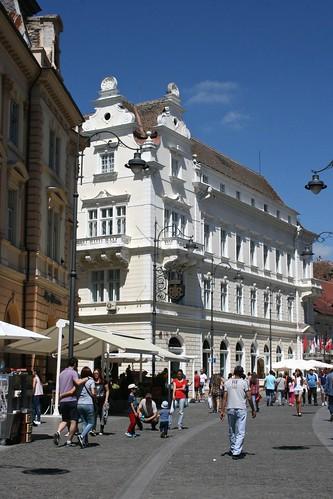 stradanicolaebălcescu heltauergasse sibiu hermannstadt nagyszeben transylvania siebenbürgen erdély romania românia europe street building urban town city