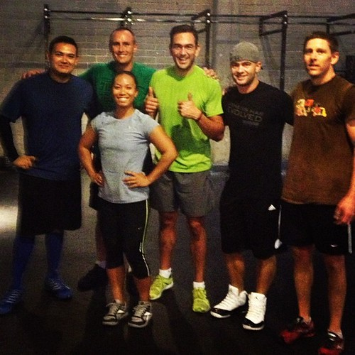"Our ""Usual Suspects"" from the morning class. It was Bryan's last #wod before moving back to OC. Good luck dude!"