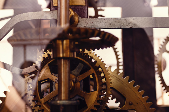 Stilter Clock Mechanism / Zegar Stiltera na wieży ratusza w Kaliszu