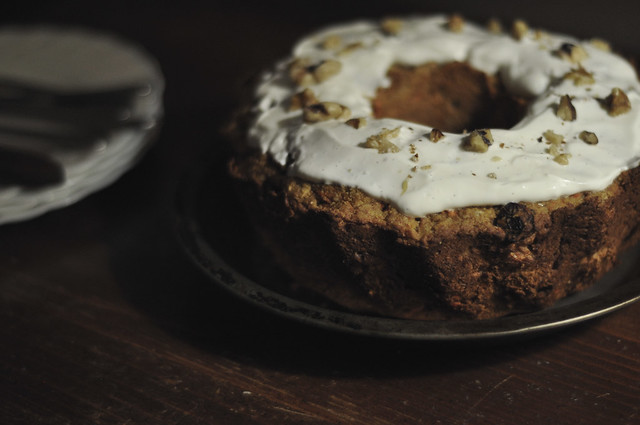 carrot cake with yogurt icing