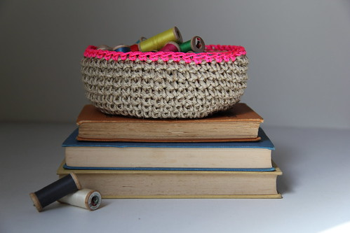 Bowl with neon trim by Crayon Chick