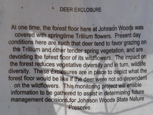 Deer enclosure sign