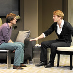Michael Goldsmith and Grant MacDermott in the Huntington's production of Christopher Shinn's political drama NOW OR LATER directed by Michael Wilson, playing Oct. 12 — Nov. 10. 2012 at the South End / Calderwood Pavilion at the BCA. Photo: Paul Marotta
