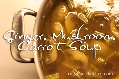 Ginger Mushroom Carrot Soup