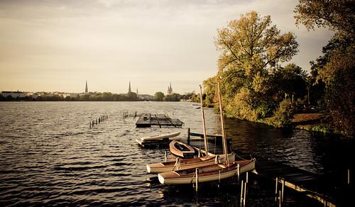 Herbstmorgen an der Außenalster #8949