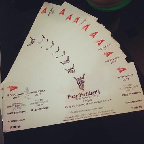 10 tiket ke Konsert Rockaway Festival 2012 utk pembaca budiey.com