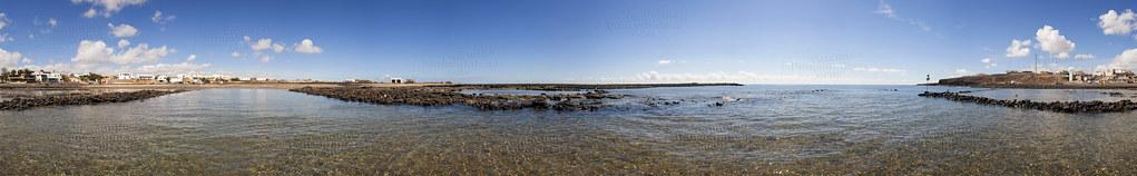 Playa de Las Salinas del Carmen, Antigua. Isla de Fuerteventura