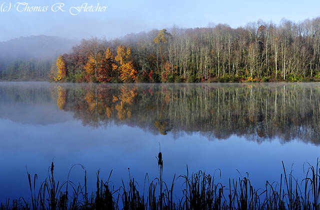 Autumn Morning Mist Big Ditch Lake