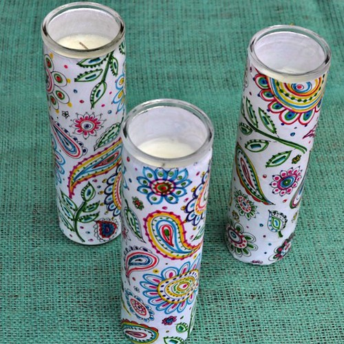 Paisley Candle Holders