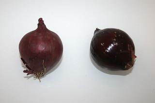 02 - Zutat rote Zwiebeln / Ingredient red onions