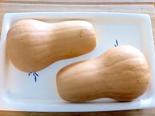 Butternut Squash Placed on Baking Tray