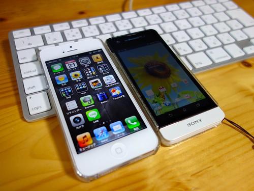 iPhone 5とXPERIA SX
