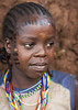 Girl From Menit Tribe With Facial Tattoos, Jemu, Omo Valley, Ethiopia The menit tribe