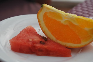 Watermelon and orange