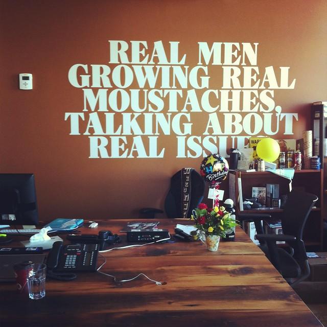 MovemberCA headquarters wall