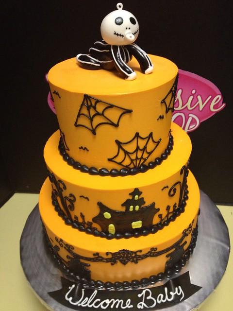 halloween baby shower cake flickr photo sharing