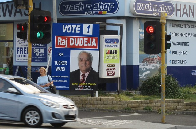 Glen Eira council election billboard