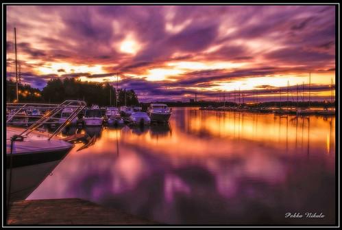 sunset lake sailboat finland harbor ship tampere auringonlasku näsijärvi santalahti