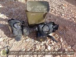Gas masks found in Bani Walid during the siege by US-backed rebels in Libya. The population is under threat with the entering of the city by militias. by Pan-African News Wire File Photos