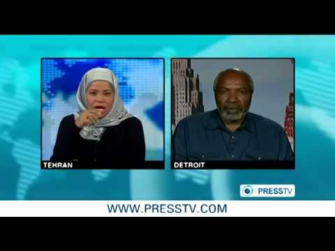 Abayomi Azikiwe, editor of the Pan-African News Wire, with Marzieh Hashemi, anchor on Press TV. Azikiwe is a news analyst on various international media outlets. by Pan-African News Wire File Photos