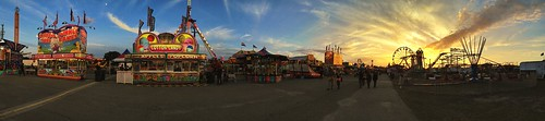 Sunset Pano at the Fair