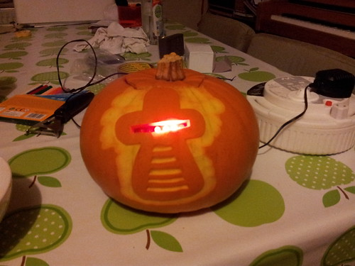 Finished mk 2 cylon pumpkin