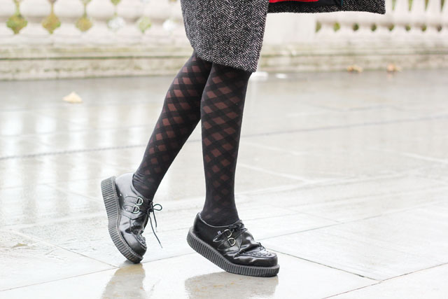 Wolford check diamond Kate tights Tuk creepers