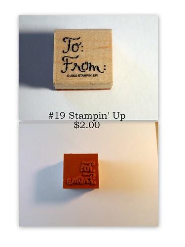 #19 Stampin' Up $2.00